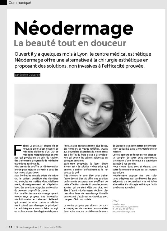 Néodermage dans Smart Magazine